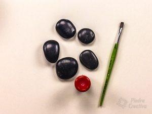 Pintar las piedras de rojo
