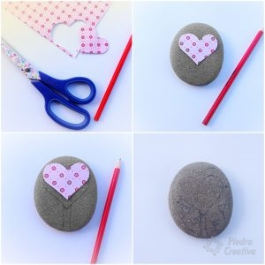 Create a heart on a paper and draw it