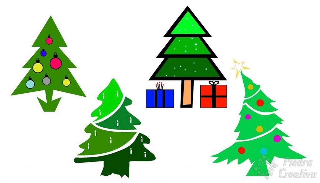 Patrones de árboles de navidad en PiedraCreativa