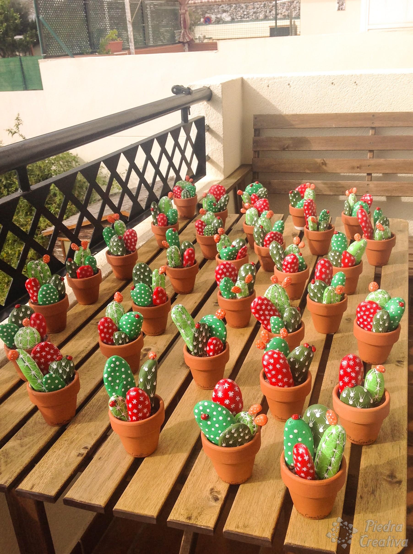 Creando cactus con piedras manualidad diy piedracreativa for Como pintar imitacion piedra