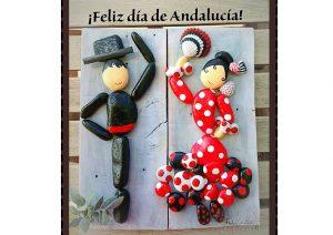Manualidad con piedras pintadas de bailaores flamencos facebook