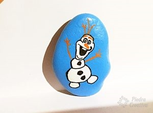 olaf pintado en piedra piedracreativa 300x221 - Olaf in rock painting