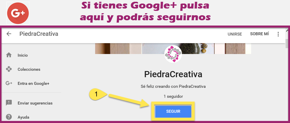 unete en googleplus - Únete a PiedraCreativa