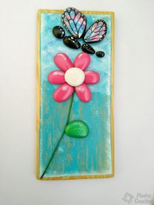 How to paint flowers with stones