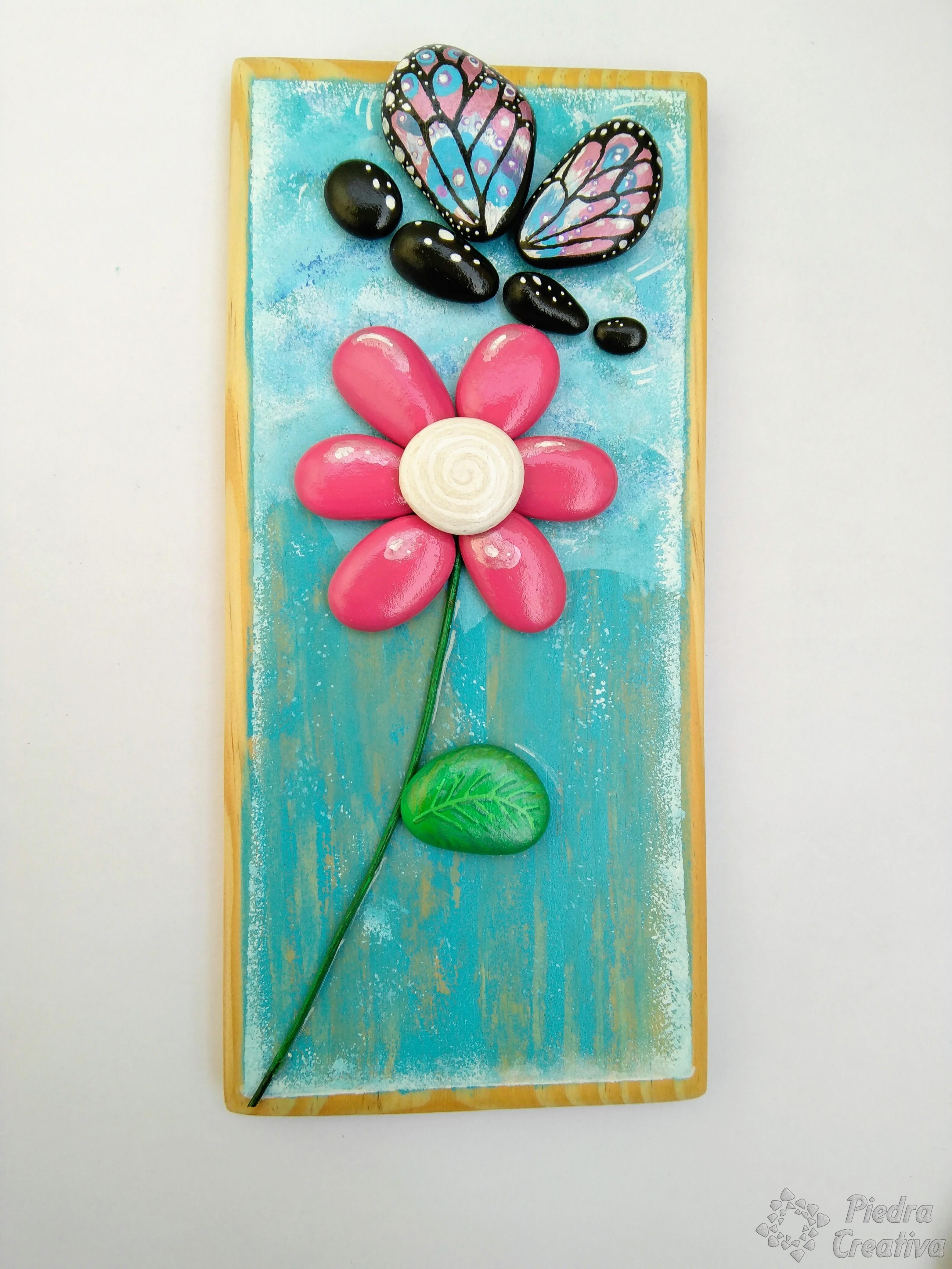 Como pintar flores en piedras diy y manualidades en piedracreativa - Ideas para pintar cuadros ...