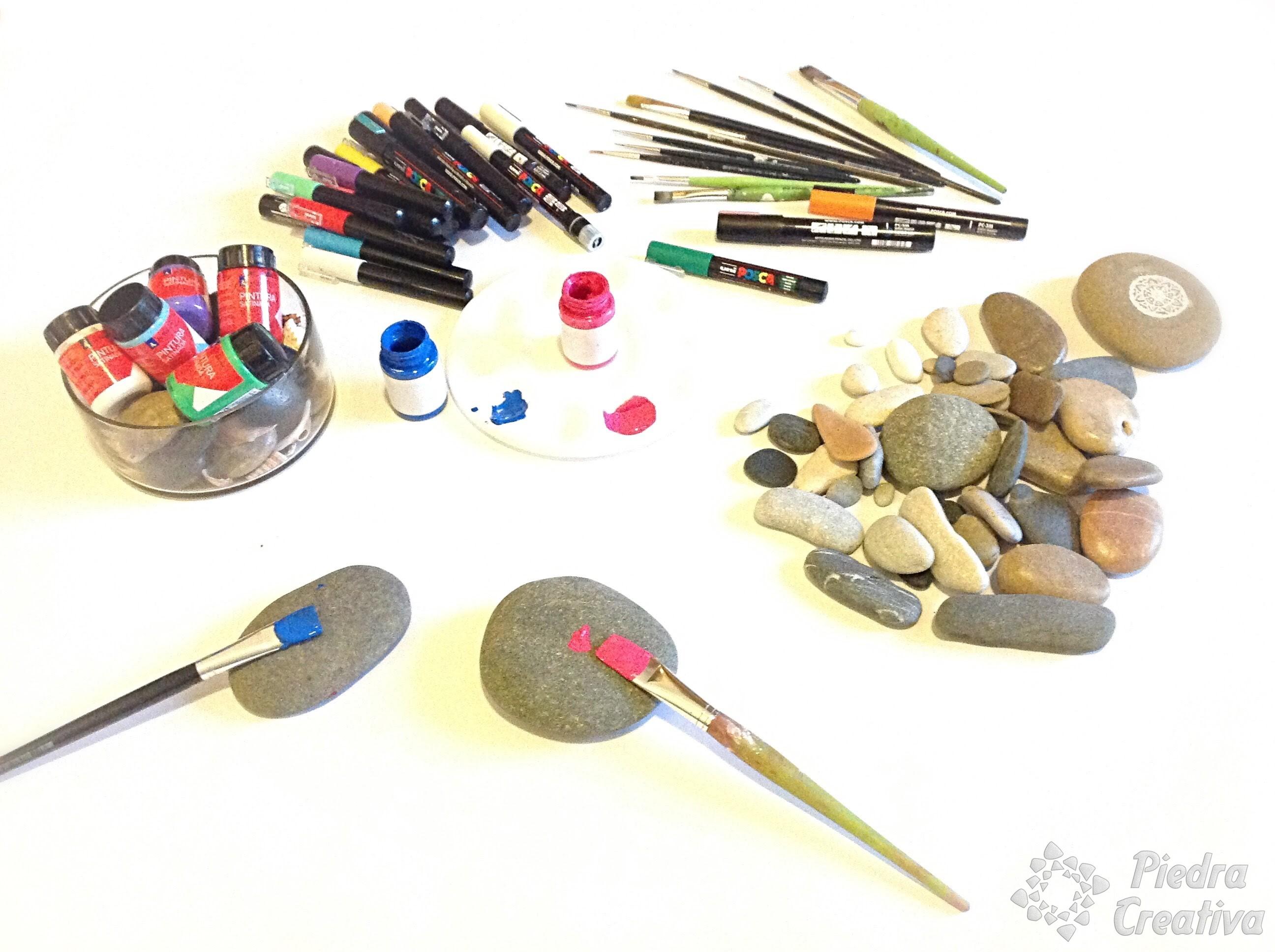 C mo pintar piedras para decorar tu hogar piedracreativa - Pasos para pintar ...