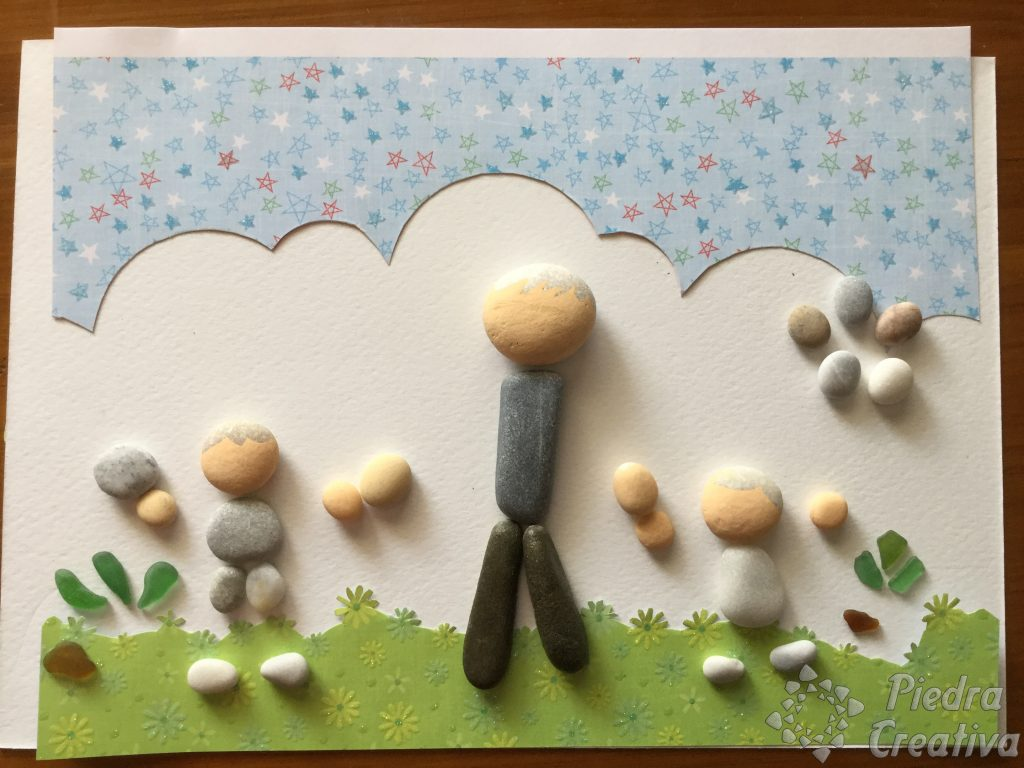 DIY día del padre pintando piedras