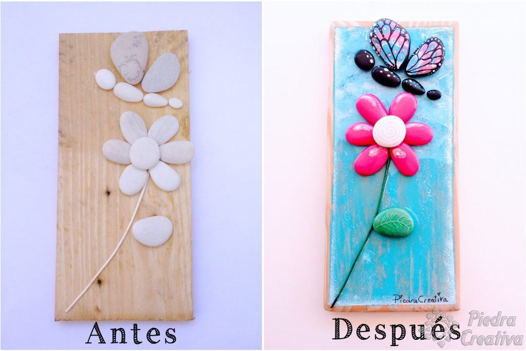 flores en piedras pintadas de piedracreativa 1024x683 - How to paint flowers in stones