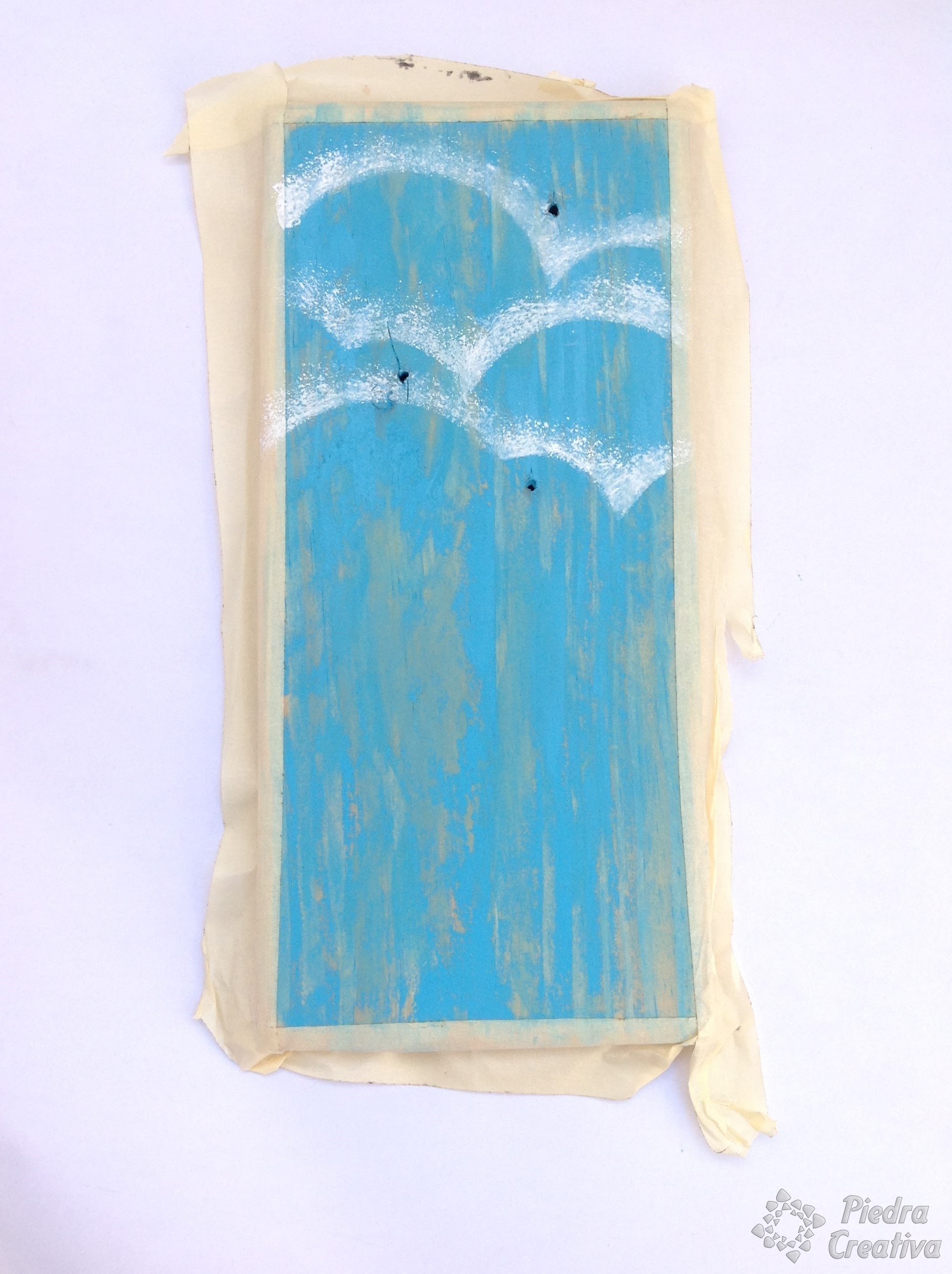 madera de como hacer flores pintadas con piedras
