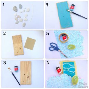 Step by step how to paint stones
