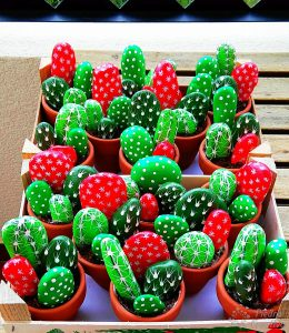 Cactus made with stones