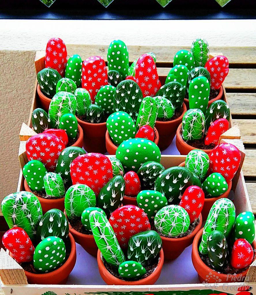C mo hacer cactus con piedras diy y manualidades en - Jardines con cactus y piedras ...