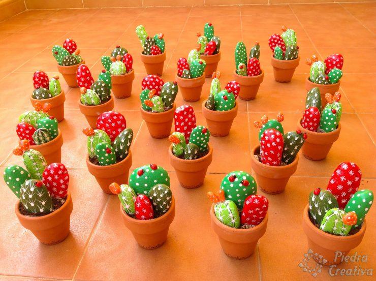 Como hacer cactus con piedras