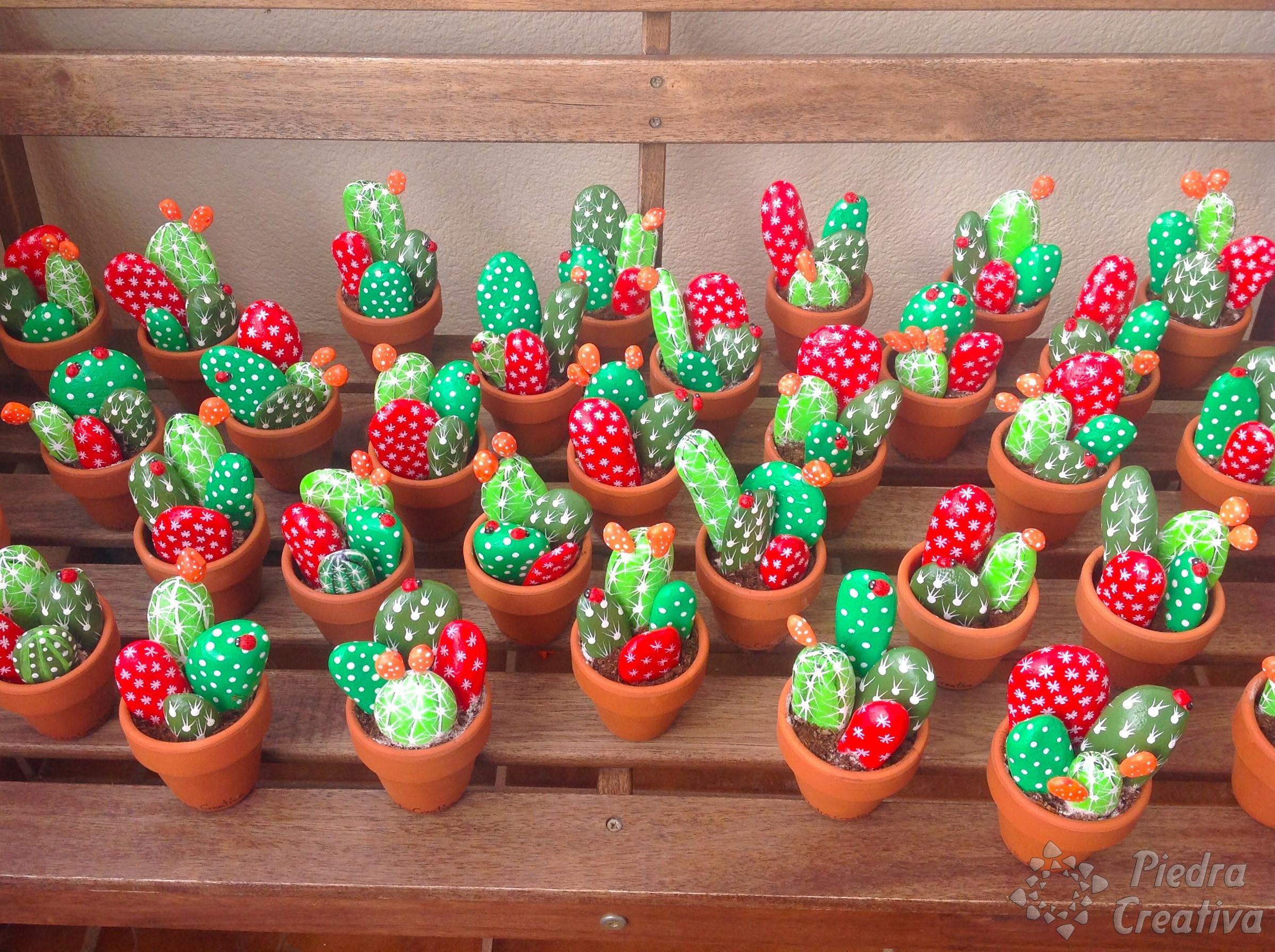 C mo hacer cactus con piedras diy y manualidades en for Como decorar plantas con piedras
