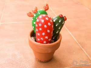 DIY - Cactus with stones in PiedraCreativa