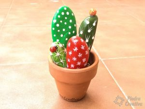 How to paint cactus rocks