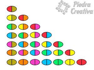 domino piedras pintadas plantilla 300x224 - How to paint rock domino