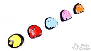 Piedras pintadas del juego de pacman