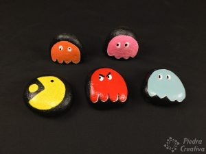 PacMan in rock painting