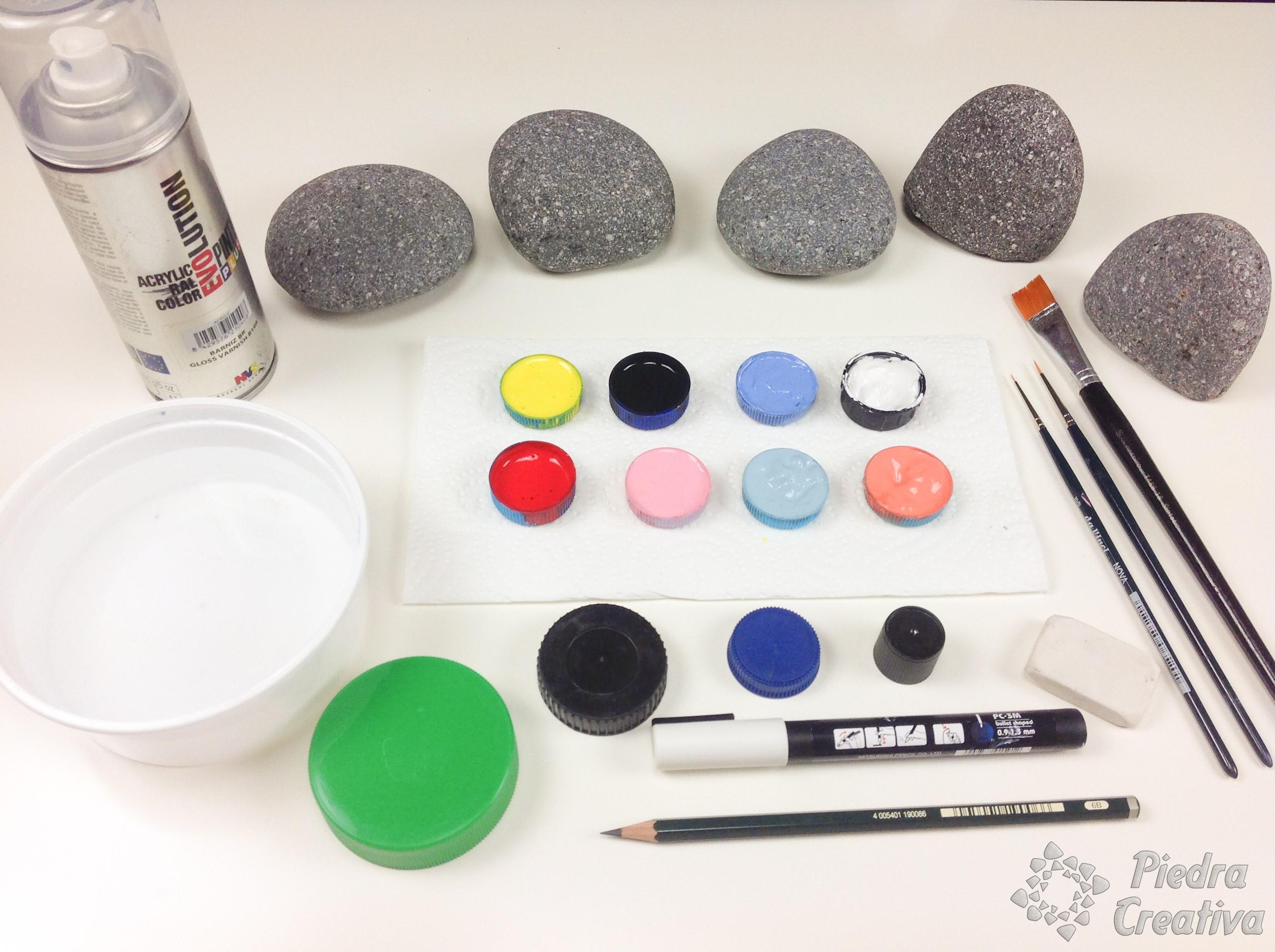 Manualidades de pacman con piedras pintadas diy - Materiales de pintura de pared ...