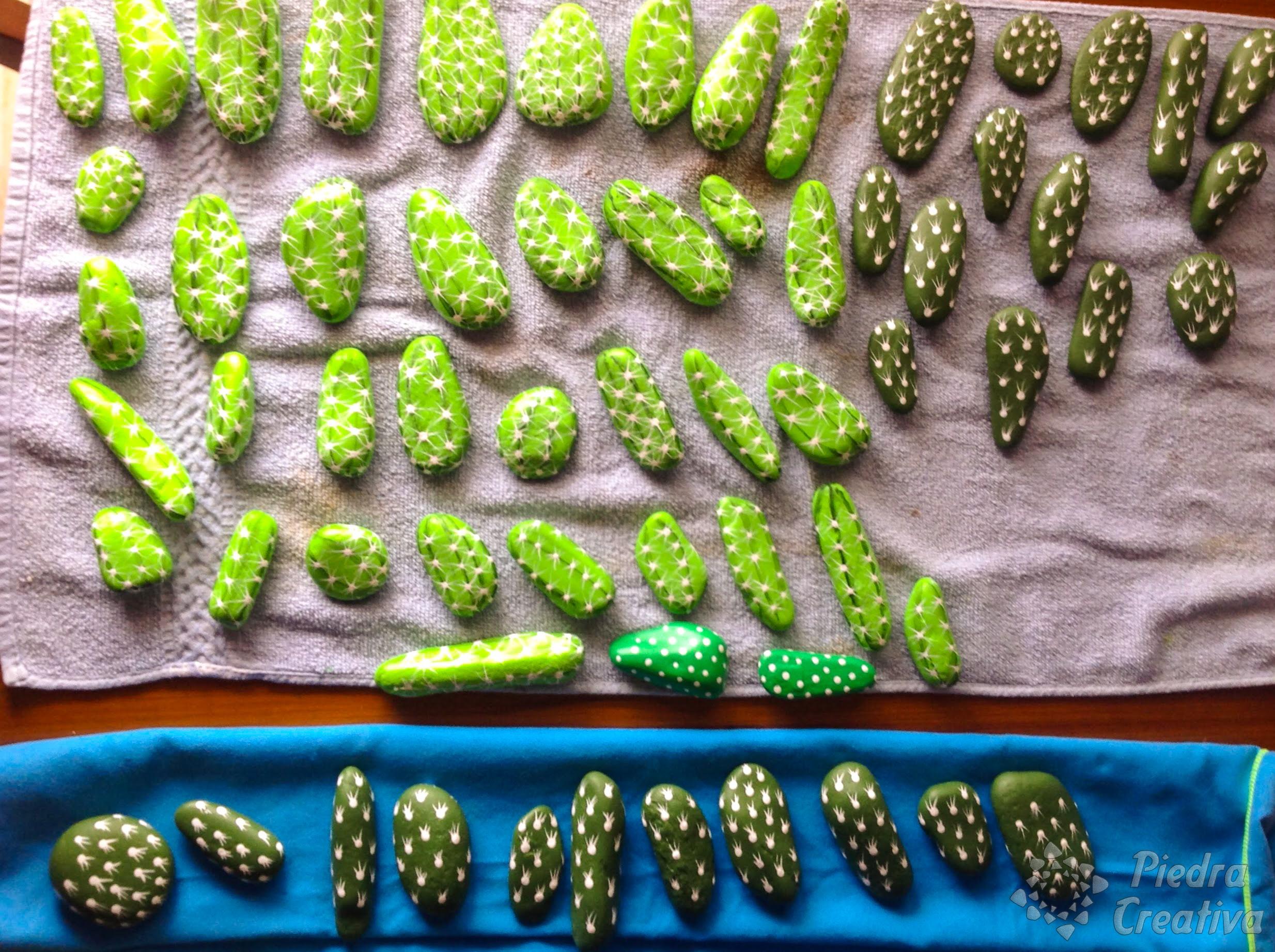 C mo hacer cactus con piedras diy y manualidades en for Pintura para pintar piedra natural