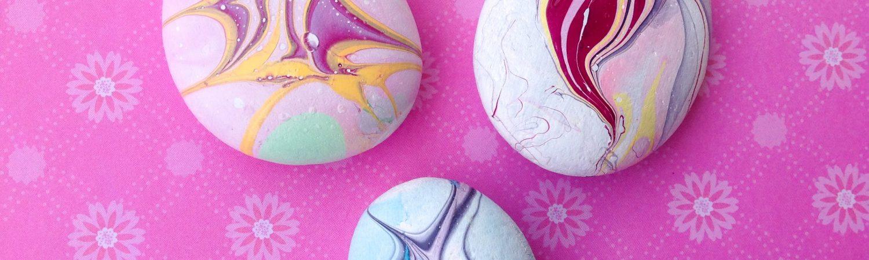 Pintando piedras con esmalteç