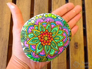 Flower mandala with varnish