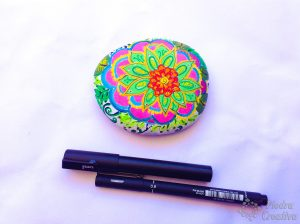 Flower Mandala Painted with Markers