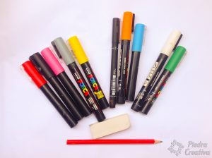 Markers for painting stones