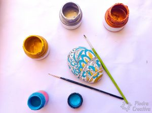 Paints and brushes for crafts