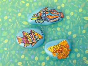 DIY - Fish varnished in stones