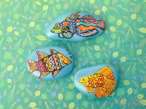 Diy peces barnizados en piedras