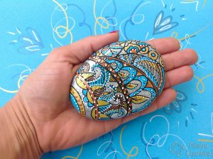 Stone painted with dots