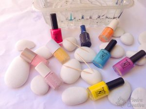 DIY painted stones with nail polish