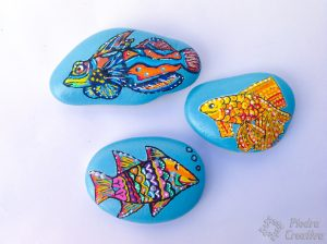 Painting rocks fish