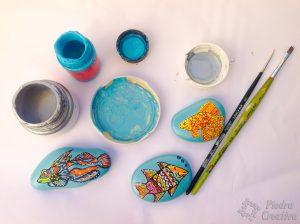 Pintura acrílica para pintar piedras