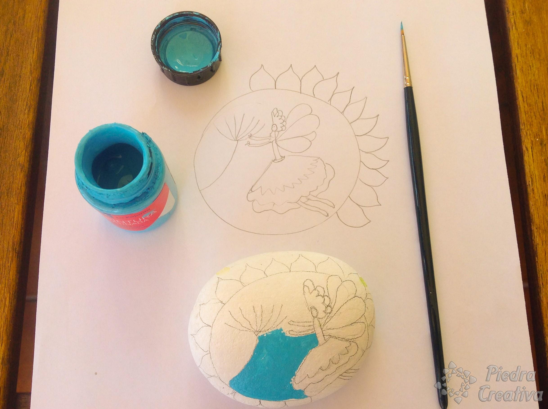 Hadas con piedras pintadas for Como pintar imitacion piedra