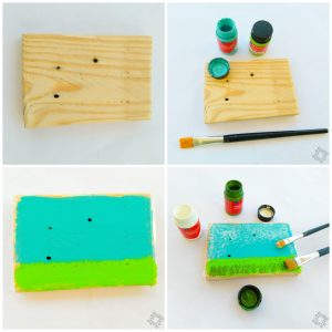 DIY step by step 1 picture for piglets on painted stones
