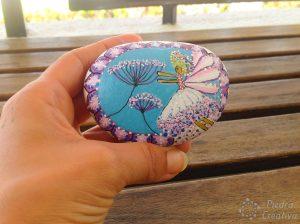 DIY como pintar hada en piedra