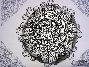 Diy mandala white and black