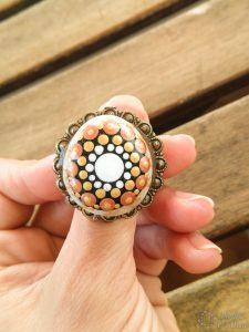 Rings with painted stones