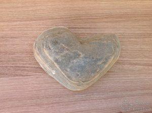 Mandala heart in stone