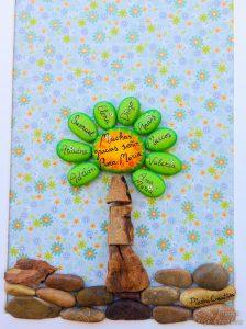 manualidad arbol nombres piedras pintadas para profe  224x300 - Árbol de piedras pintadas para recordar