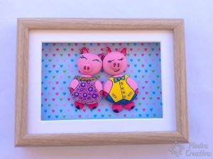 Cute pigs painted rocks
