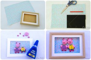 Step by step frame with foil