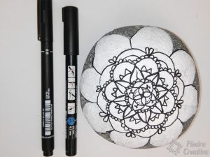 Mandala with black marker