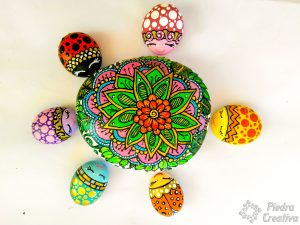 Ladybugs with mandala