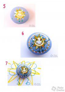 diy sol pintado en piedra de moty 213x300 - ICalleIlustracion, a great Sun