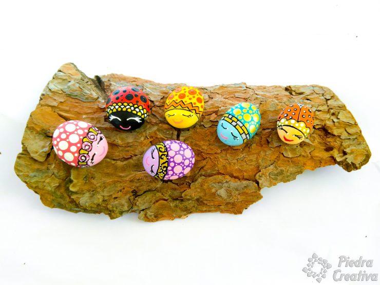 Como pintar mariquitas en piedras