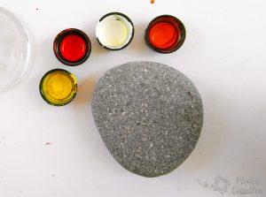 Materiales piedras pintadas de mandala de verano